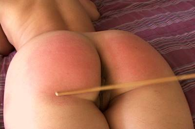 butt Bright spanking red