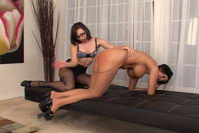 spanking, Sinn Sage and Dylan Ryder, girl spanks girl erotic spanking